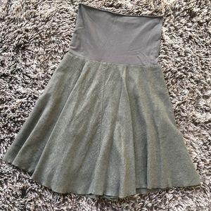 Humanoid gray skirt wool linen blend medium M